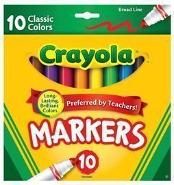 Crayola Marker Set, 10-Colors