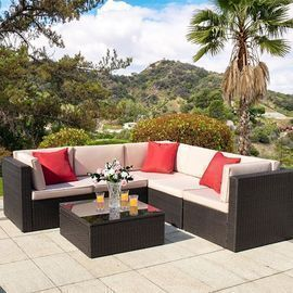Walnew 6 Pieces Outdoor Sectional