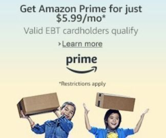 Amazon Prime for $5.99/Month (EBT Cardholders)