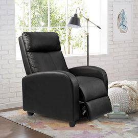 Walnew Faux Leather Home Theater Recliner w/ Massage