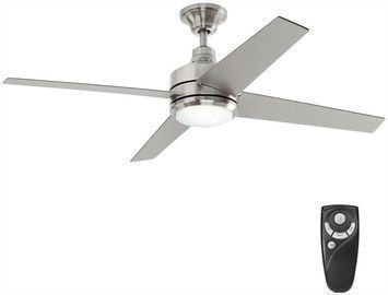 Mercer 52 Brushed Nickel Ceiling Fan with Light Kit and Remote