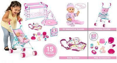 Kids 15-Piece Baby Doll Playset