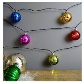 Mercury Glass Globe String Lights