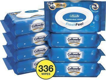 Cottonelle FreshFeel Flushable Wet Wipes 336-Pack