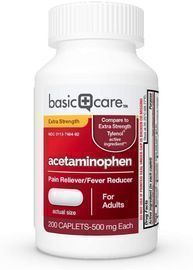 Amazon Basic Care Extra Strength Pain Relief, Acetaminophen Caplets, 500 