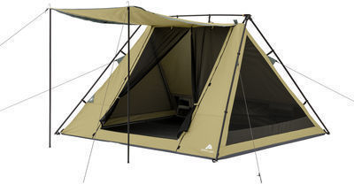 Ozark Trail 8 x 7 4-Person A-Frame Tent with Awning