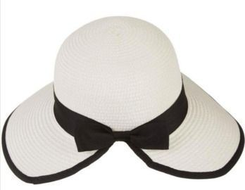 Women's Contrast Trim Framing Sun Hat