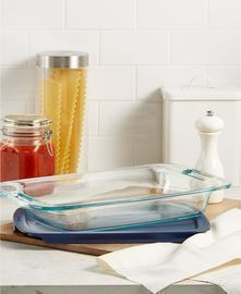 2x Pyrex Easy Grab 3-Qt. Covered Baking Dishes