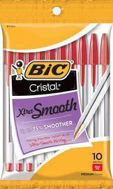 BIC 10 Count Cristal Xtra Smooth Ballpoint Pen