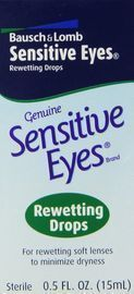 Bausch + Lomb Sensitive Eyes Rewetting Drops, 0.5 Ounce Bottle
