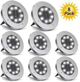 8 Pack LED Solar Ground Lights