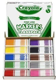 Crayola Fine Line Markers - 200 ct