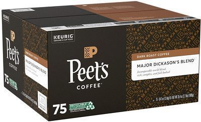 Peet's Coffee Major Dickason's Blend K-Cups 75-Ct.