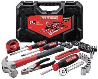 CRAFTSMAN 57-Piece Household Tool Set w/ Hard Case