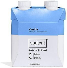 Soylent 4pk Vanilla Plant Protein Meal Replacement Shake, 11 Oz
