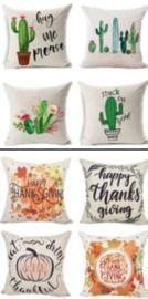 Set of 4 18x18 Pillow Covers