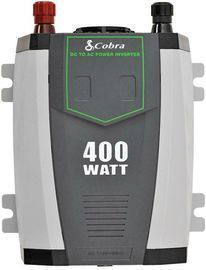 Cobra CPI-490 Compact 400W Power Inverter w/ Cables (Refurb)