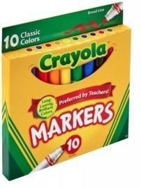 10ct Broadline Classic Crayola Markers