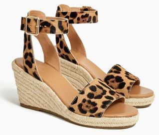 Calf Hair Espadrille Wedges