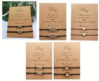 Pinky Promise Distance Bracelets Matching Bracelets