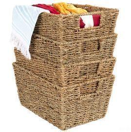 Seagrass Storage Tote Baskets (4ct)