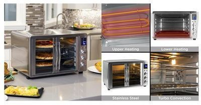 55L 1800W Extra Large Convection Toaster Oven