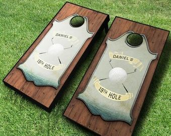 2' x 4' Personalized Golf Solid Wood Cornhole Board