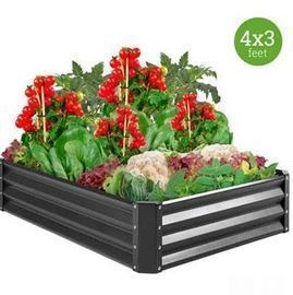 4x3x1ft Outdoor Metal Raised Garden Bed