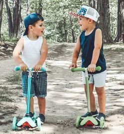 Kids Mini Kick Scooter Toy w/ Light Up Wheels