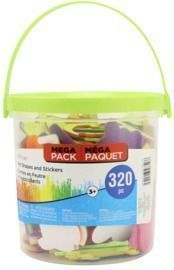 320 Piece Felt Shapes & Stickers Bucket By Creatology