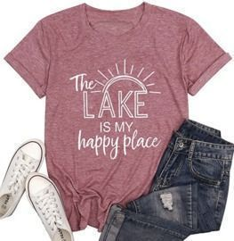 The Lake is My Happy Place T Shirt