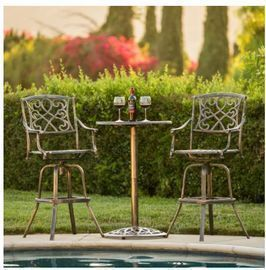 3-Piece Cast Aluminum Bistro Set