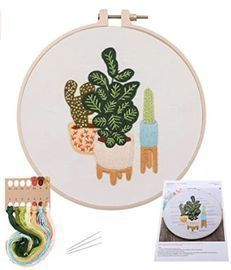 DIY Plant Embroidery Kit!