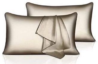 Gold Sable Silk Pillowcase Set of 2