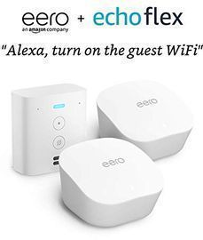 eero mesh WiFi Router system, 2-Pack with Free Echo Flex