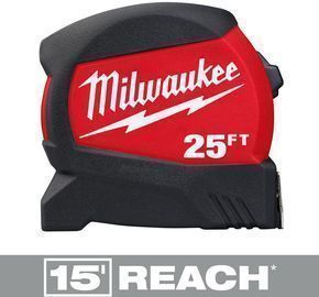 Milwaukee 25 ft. x 1.2 in. Compact Wide Blade Tape Measure