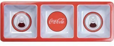 Coca-Cola Melamine Divided Tray