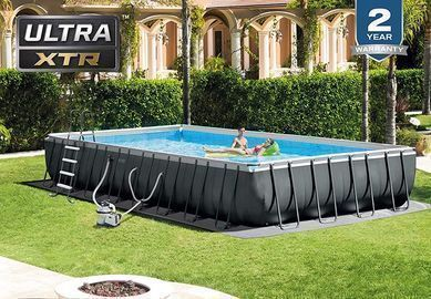 Intex Set Above Ground Pool, 32ft X 16ft X 52in