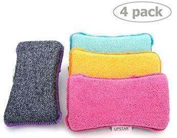 Microfiber Scrubber Sponge - 4pk