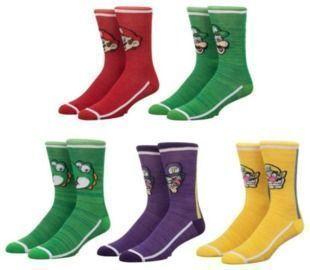 Super Mario Bros. Crew Socks 5-Pack (Two-Sets)