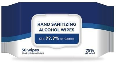 Alcohol Wipes, Unscented, 50 Wipes Per Pack