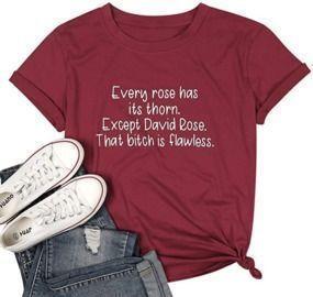 David Rose Shirt Funny Letter Print T-Shirt