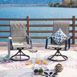 Sarvis Swivel Patio Dining Chair (Set of 2)