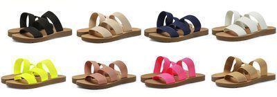 DREAM PAIRS Women's Flat Slide Sandals