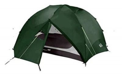 Jack Wolfskin Yellowstone Very Well Ventilated 2-Person Hiking Tent with Removable Fly  Repair Kit
