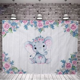 7x5ft Elephant Backdrop