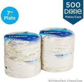 Dixie 500 Count 6 7/8 (17.4 cm) Medium-Weight Paper Plates