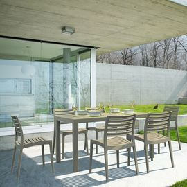 Melissus 7 Piece Dining Set, Dove Gray