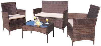 Walnew 4 PCS Outdoor Patio Conversation Furniture Set