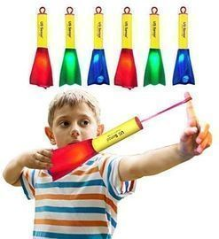 6 Pack LED Foam Finger Rockets Glowing Flying Toys